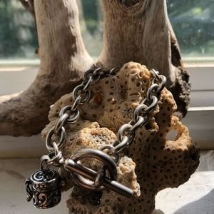 Sterling silver prayer box bracelet
